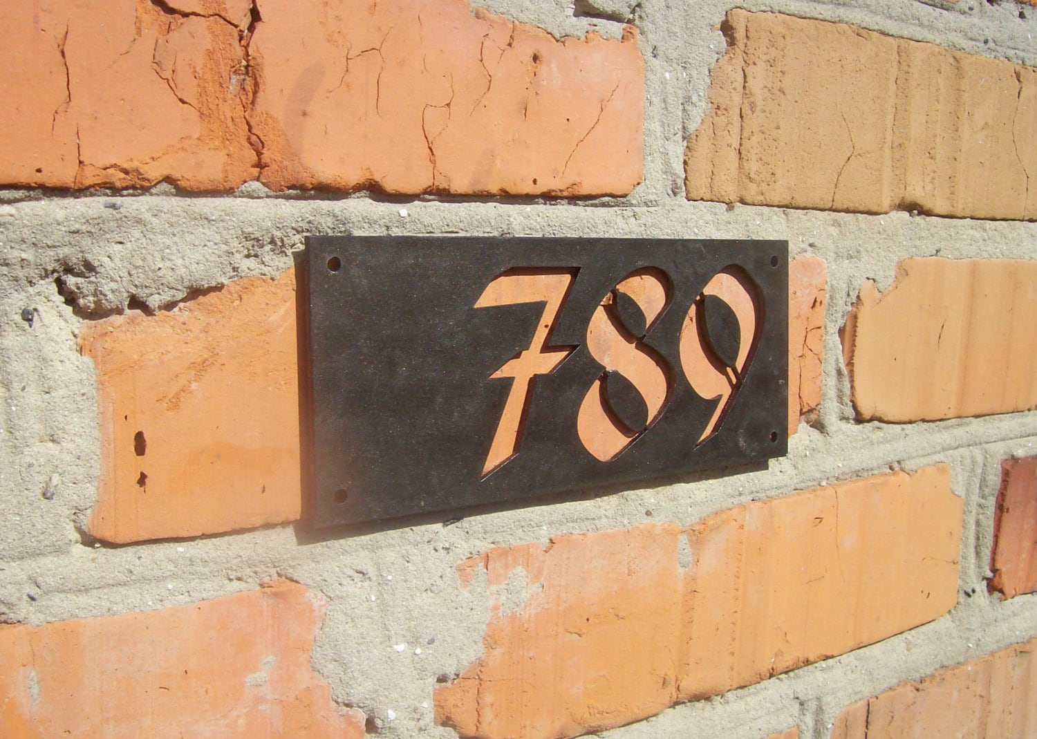 Designers 3d house number modern house numbers contemporary home address sign plaque door number