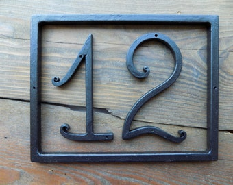 House Number / Home Number /Address numbers / House number in a frame / Iron House Numbers / Home address /Metal house number/ House Address