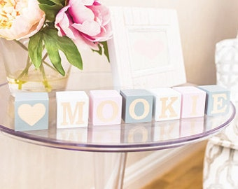 Name blocks - wooden baby name blocks - nursery decor - baby name nursery decor -wooden name blocks - handmade baby blocks