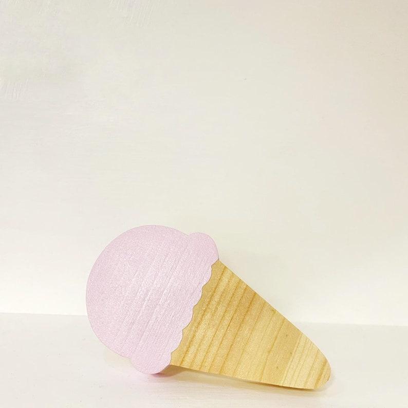 Ice cream wall hook  fun wooden hooks  modern kids room image 0