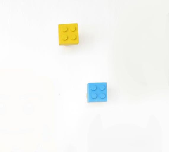 Lego Muur Haak Pine Lego Haken Kinderen Handgeschilderde Etsy