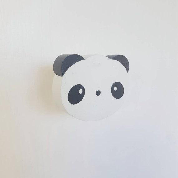 Panda Muur Haak Beer Houten Haken Moderne Kinderen Kamer Etsy
