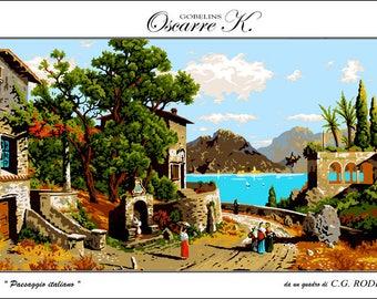 Krainer Needlepoint Kit Cottage 19x24in 49x61cm Printed Canvas cod K50