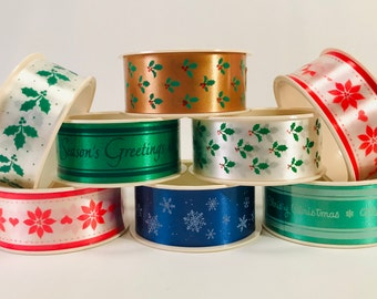 Made in USA c.1970s St Giftwrap Velvet Lace Ribbon Easter United Cut Products Craft and Floral Novelty Ribbon Flocked Patricks/'s Day