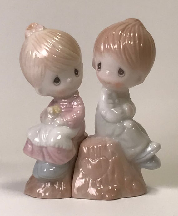 knick Knacks,home decor Home and living Vintage Precious Moments salt and pepper shakers figurines, precious Moments