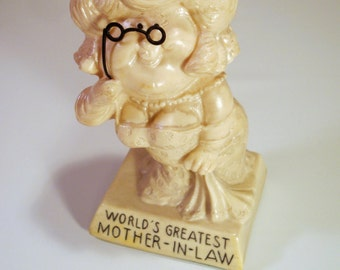 "Mother In Law Figure | Resin Statue ""World's Greatest"" Award"