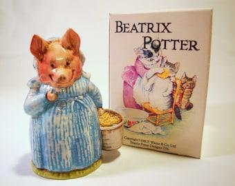 Aunt Pettitoes Figurine| Beatrix Potter Beswick England