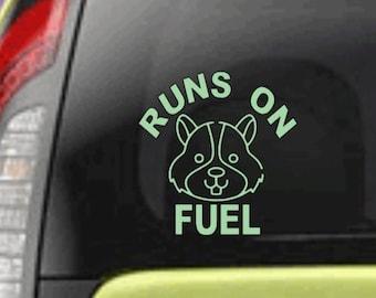 Runs on Hamster Fuel | Kia Soul Car Decal | Hamster | Car Decal