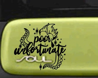 Poor Unfortunate SOUL | Decal for KIA SOUL | Car Decal