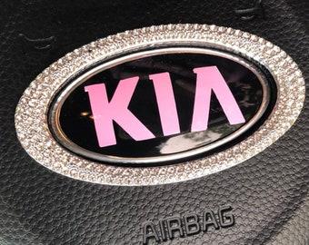 Kia RIO Badge Overlay Decals - 3 Piece - fits 2016 Model