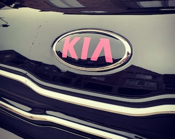 Kia OPTIMA Badging Overlay - Decal - 3 Piece - Fits 2013 or 2020 Model