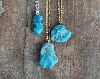 Raw Arizona Turquoise Necklace - December Birthstone