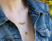 Peridot Necklace, Raw Crystal Necklace, August Birthday Gifts for Her