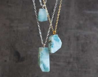 Raw Dominican Larimar Necklace