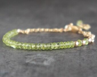 Peridot Bracelet - August Birthstone