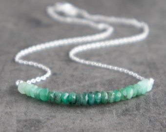 Ombre Emerald Necklace - May Birthstone