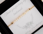 Bridesmaid Gift Bracelets, Maid of Honour Gift, Bridal Party Jewelry Gift, Wedding Keepsake, Thank You for Being my Bridesmaid Gift Card