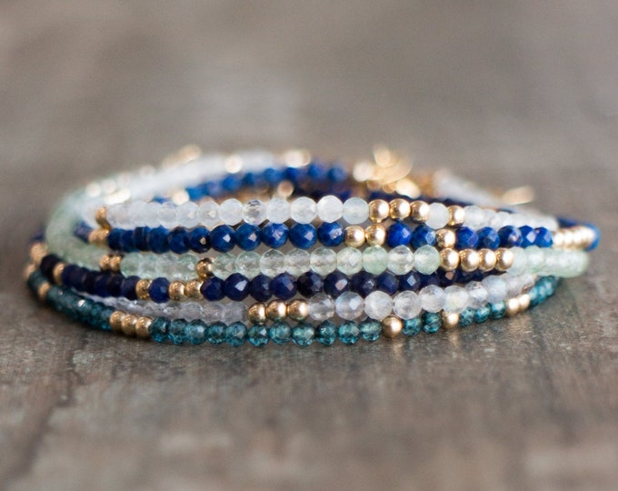 Featured listing image: Gemstone Stacking Bracelets
