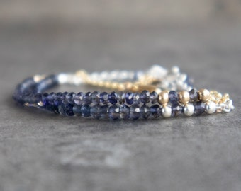 Iolite Bracelet -Water Sapphire Bracelet