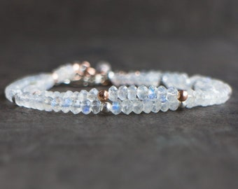 Rainbow Moonstone Bracelet - June Birthstone