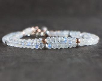 Rainbow Moonstone Bracelet - June Birthstone