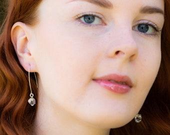Herkimer Diamond Earrings - April Birthstone