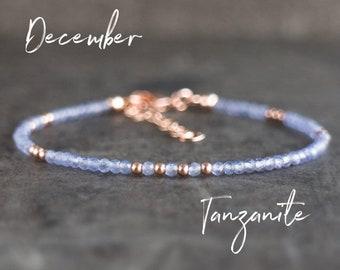 Skinny Tanzanite Bracelet - December Birthstone
