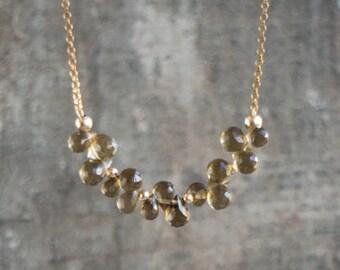 Smoky Quartz Cluster Necklace