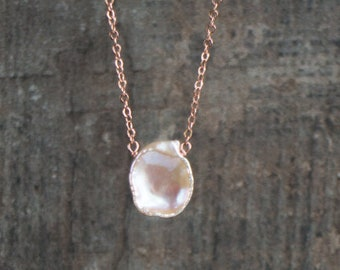 Keshi Petal Pearl Necklace - June Birthstone