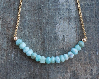 Larimar Beaded Necklace