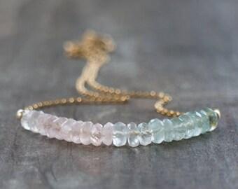 Multi Aquamarine Necklace