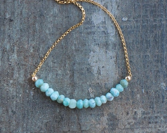 Larimar Beaded Necklace