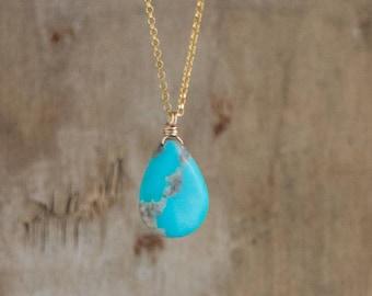 Rustic Arizona Turquoise Necklace - December Birthstone