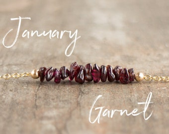 Raw Garnet Necklace