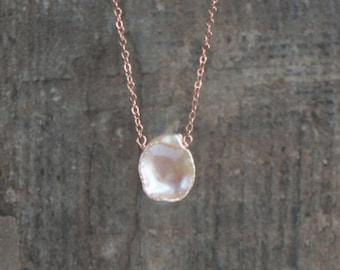 Keshi Petal Pearl Necklace - June Birthstone