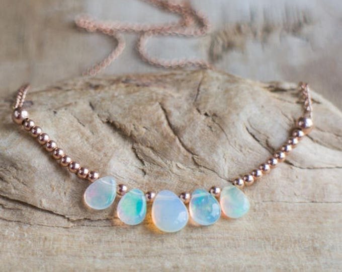Featured listing image: Ethiopian Welo Opal Necklace - October Birthstone