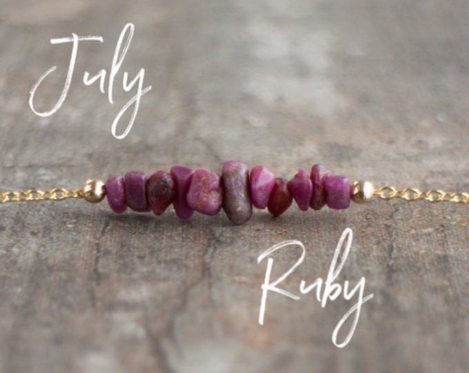 Featured listing image: Raw Ruby Necklace