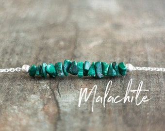 Raw Malachite Necklace