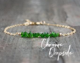 Chrome Diopside Bracelet (Siberian Emerald)
