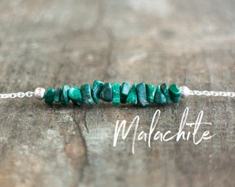 Raw Malachite Necklace