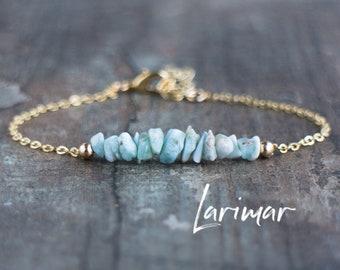 Raw Larimar Bracelet