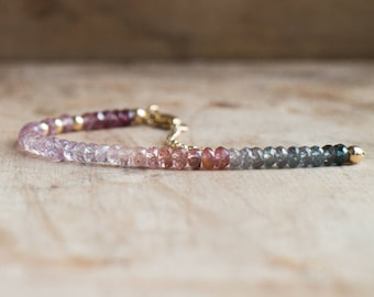 Gemstone Bracelet, Mothers Day, Mom Gift for Her, Multi Spinel Bracelet, Beaded Bracelet, Boho Jewelry, Gemstone Jewelry, Dainty Jewelry