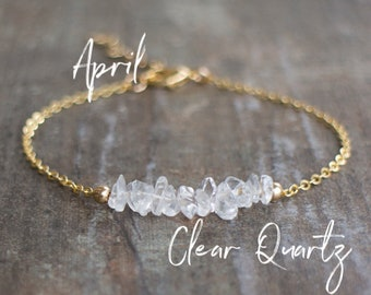 Raw Clear Quartz Bracelet