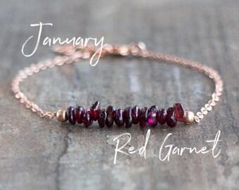Raw Garnet Bracelet