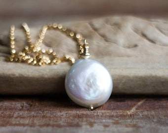 Single Freshwater Pearl Necklace - June Birthstone