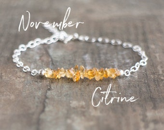 Raw Citrine Bracelet- November Birthstone