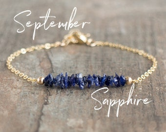 Raw Sapphire Bracelet