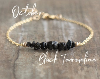 Raw Black Tourmaline Bracelet