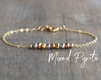 Mixed Metal Pyrite Bracelet