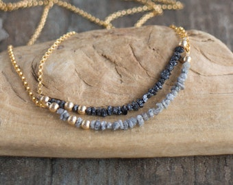 Raw Diamond Necklace - April Birthstone